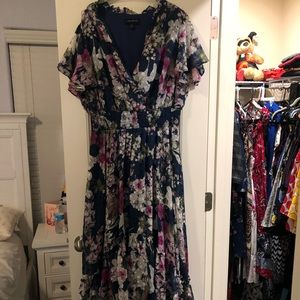 Long beautiful floral dress